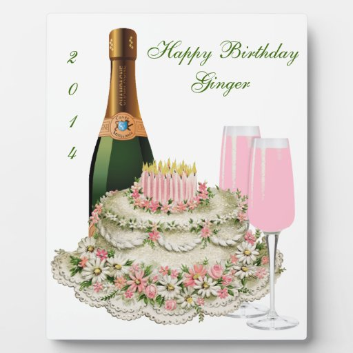 Cumpleaños de la tostada de Champán Placas Para Mostrar