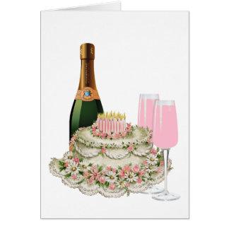 Cumpleaños de la tostada de Champán Felicitacion