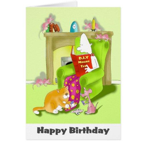 cumpleaños de la trampa del ratón tarjetas