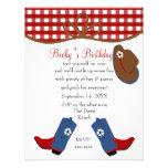 Cumpleaños de la vaquera del dril de algodón invitación personalizada