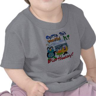 Cumpleaños de las criaturas del espacio primer camiseta