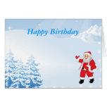 Cumpleaños de las felices Navidad Tarjeton
