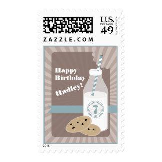Cumpleaños de las galletas y de la leche del sello