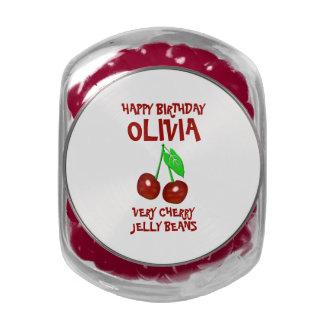 Cumpleaños de las habas de jalea de la cereza jarras de cristal jelly bely