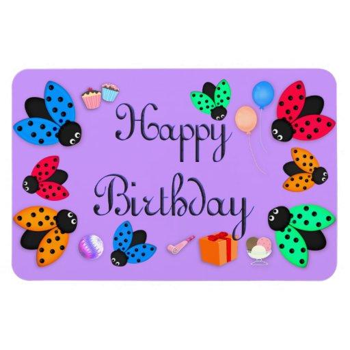 Cumpleaños de las mariquitas imanes