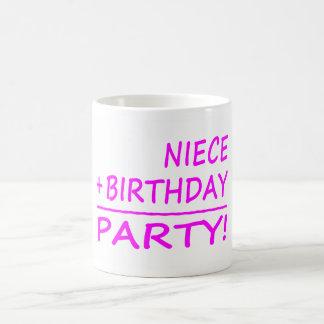 Cumpleaños de las sobrinas: Sobrina + Cumpleaños = Taza Clásica