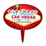 Cumpleaños de Las Vegas del PRIMERO de la TORTA 21 Figuras Para Tartas