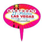 Cumpleaños de Las Vegas del PRIMERO de la TORTA 21 Decoración Para Tarta