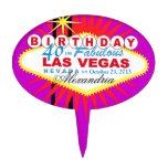 Cumpleaños de Las Vegas del PRIMERO de la TORTA 40 Decoración Para Tarta