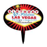Cumpleaños de Las Vegas del PRIMERO de la TORTA tr Figuras Para Tartas