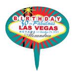 Cumpleaños de Las Vegas del PRIMERO de la TORTA tr Decoración Para Tarta