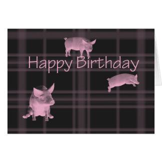Cumpleaños de los amantes del cerdo tarjeta de felicitación