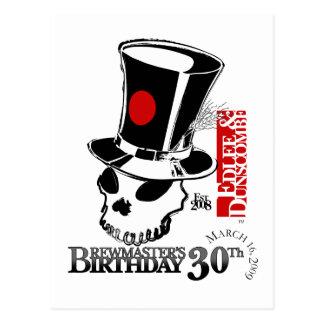 Cumpleaños de los amos del Brew de E&D trigésimo Postal