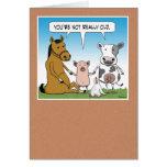 Cumpleaños de los animales del campo divertido tarjeta de felicitación