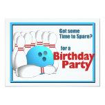 Cumpleaños de los bolos invitacion personalizada