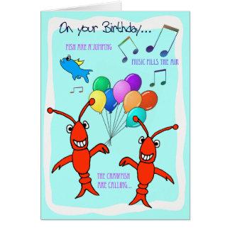 Cumpleaños de los cangrejos de Cajun feliz Tarjeta De Felicitación
