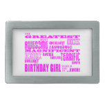 Cumpleaños de los chicas: El más grande la mayoría Hebillas Cinturon