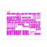 Cumpleaños de los chicas: El más grande la mayoría Postal