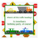 Cumpleaños de los coches, de los camiones y de los invitacion personal
