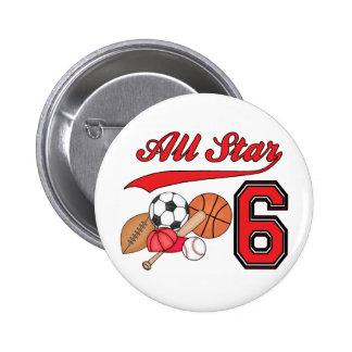 Cumpleaños de los deportes de All Star 6to Pins