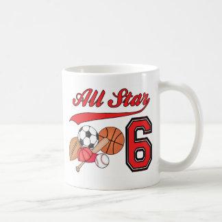 Cumpleaños de los deportes de All Star 6to Taza De Café