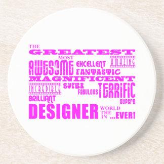 Cumpleaños de los diseñadores de los chicas: Diseñ Posavasos Personalizados