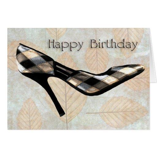 Cumpleaños de los estiletes de las hojas de otoño tarjeta de felicitación