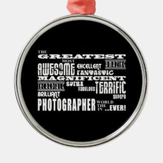 Cumpleaños de los fotógrafos: El fotógrafo más Adorno Redondo Plateado