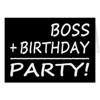 Cumpleaños de los jefes: Boss + Cumpleaños = Tarjeta Pequeña
