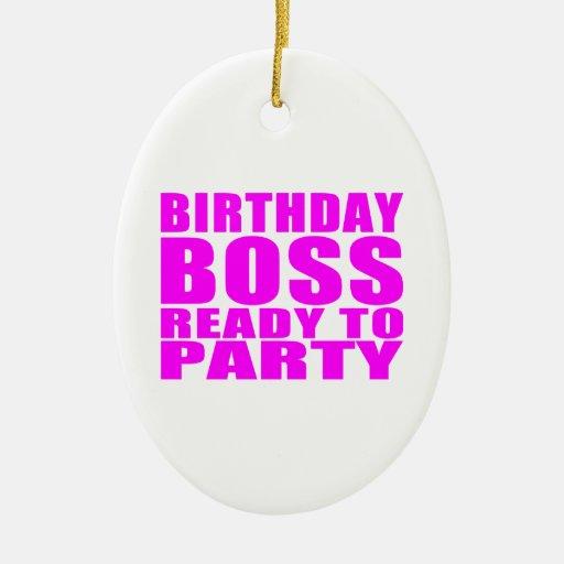 Cumpleaños de los jefes: Cumpleaños Boss listo par Ornato