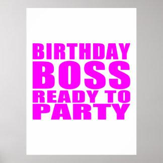 Cumpleaños de los jefes: Cumpleaños Boss listo par Póster
