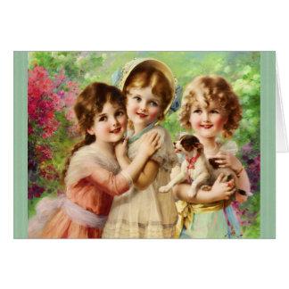 Cumpleaños de los mejores amigos de los chicas del tarjeta de felicitación