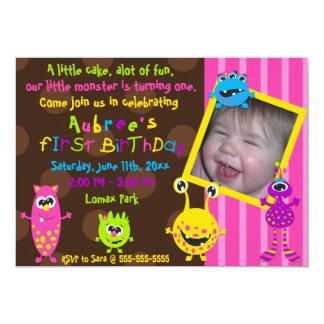 Cumpleaños de los monstruos de Lil primer Comunicados Personalizados