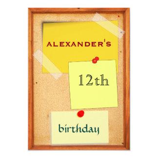 """Cumpleaños de los muchachos del tablero del Pin Invitación 5"""" X 7"""""""