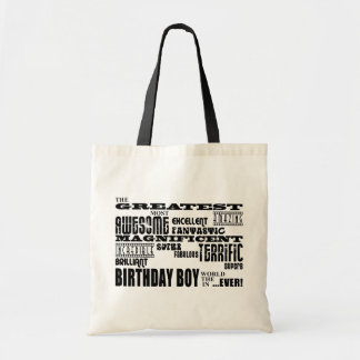 Cumpleaños de los muchachos: El más grande la mayo Bolsa Tela Barata