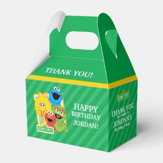 Cumpleaños de los Pals del Sesame Street Cajas Para Regalos