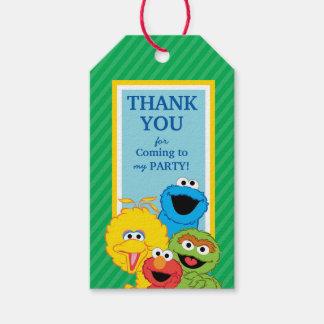 Cumpleaños de los Pals del Sesame Street Etiquetas Para Regalos