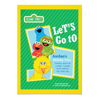 """Cumpleaños de los Pals del Sesame Street Invitación 4.5"""" X 6.25"""""""