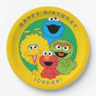 Cumpleaños de los Pals del Sesame Street Platos De Papel