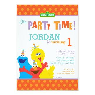 """Cumpleaños de los Pals del sésamo Invitación 5"""" X 7"""""""