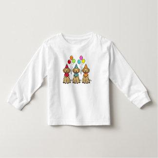 Cumpleaños de los perritos del golden retriever t shirts