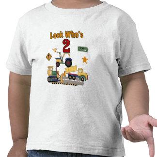 Cumpleaños de los vehículos de la construcción 2do camiseta