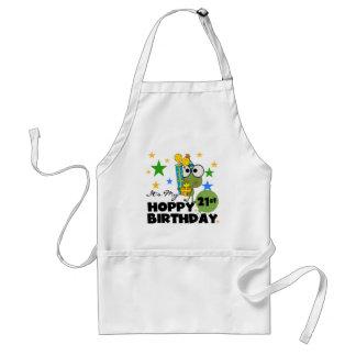 Cumpleaños de lúpulo de Froggie 21ro Delantal