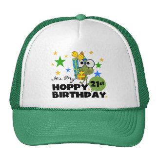 Cumpleaños de lúpulo de Froggie 21ro Gorras De Camionero