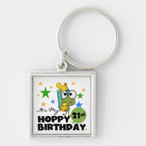 Cumpleaños de lúpulo de Froggie 21ro Llavero