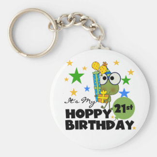 Cumpleaños de lúpulo de Froggie 21ro Llavero Personalizado