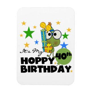 Cumpleaños de lúpulo de Froggie 40.o Imán Foto Rectangular
