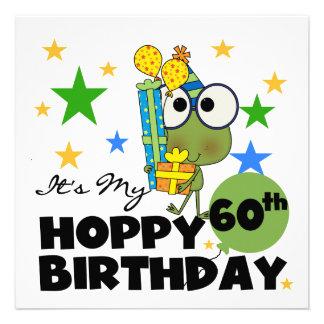 Cumpleaños de lúpulo de Froggie 60 o Invitación Personalizada