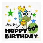Cumpleaños de lúpulo de Froggie 60.o Invitación Personalizada