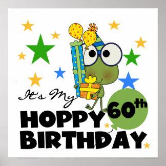 Cumpleaños de lúpulo de Froggie 60.o Póster
